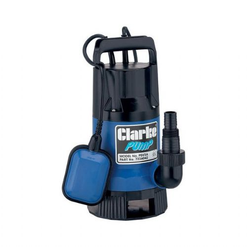 Clarke PSV3A Dirty Water Submersible Pump 133 Litres/Min 240V~50Hz